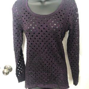 Sparkly Rock & Republic open weave sweater